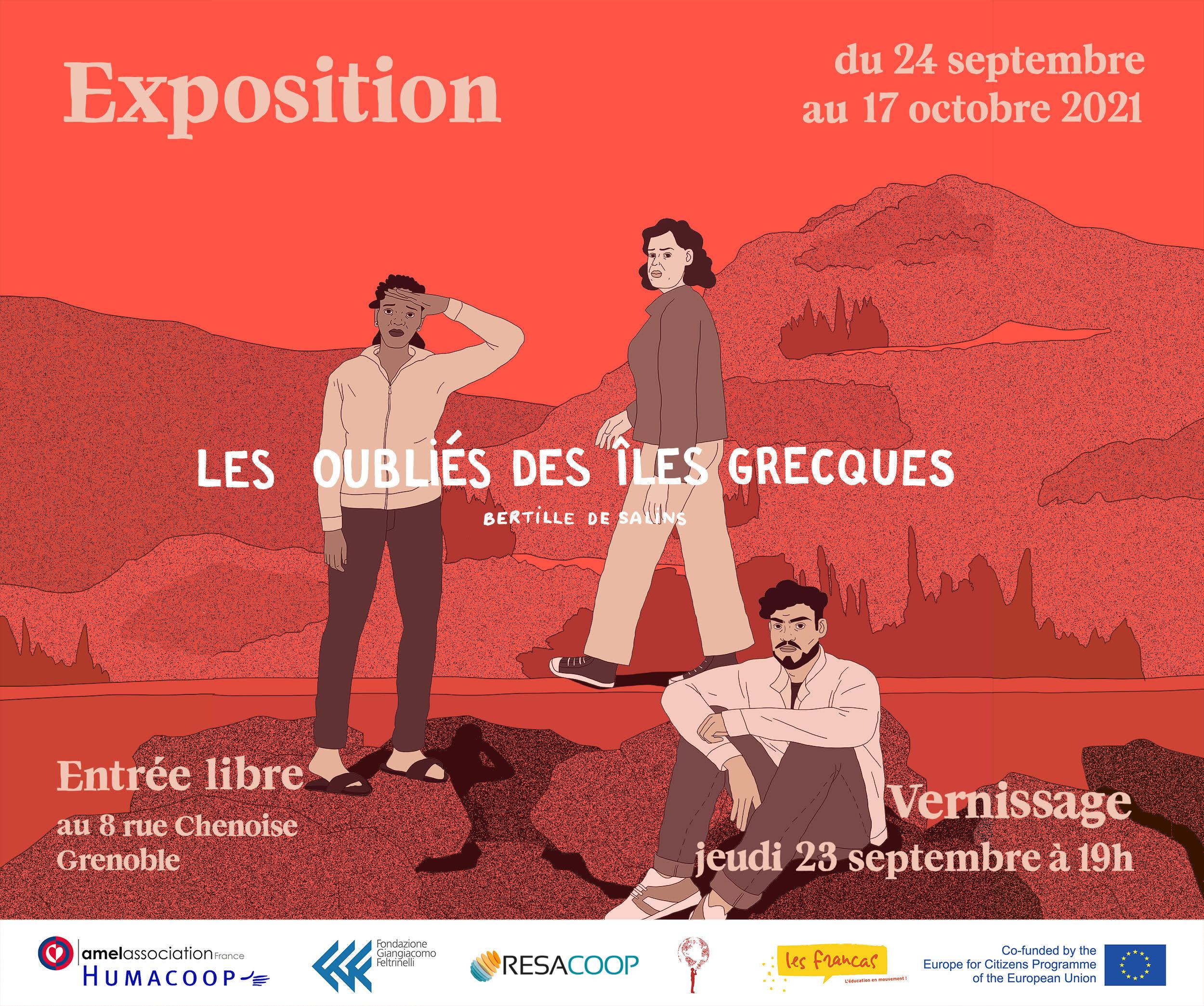 Exposition de la BD «Les oubliés des îles grecques, histoires de crises» Lauréat Récital Isère 2021